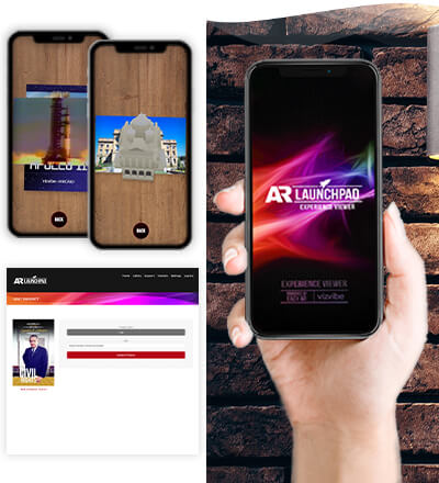 Use the free IOS and Android AR LaunchPad Experience Viewer app to see your AR creations come alive!