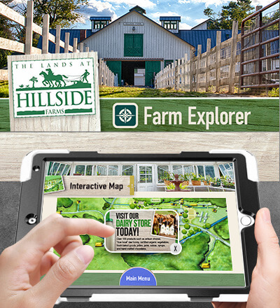 Another example of micro kiosks created by VizVibe for the Lands at Hillside Farms.