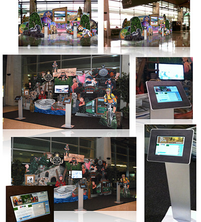 LHVA interactive display at the Wilkes-Barre - Scranton International Airport, Lackawanna County - Moosic, PA.
