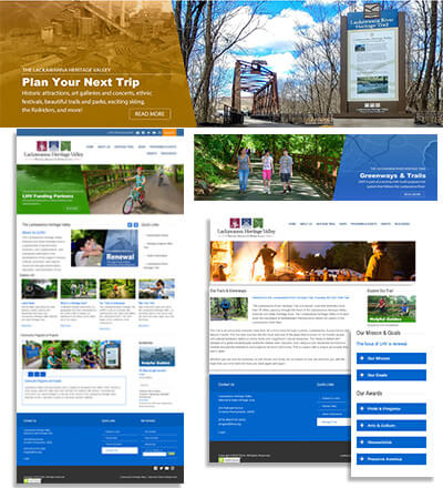 VizVibe redesigned Lackawanna Heritage Valley's website and created a customized CMS for the staff to easily and quickly make changes and updates. VizVibe worked with EdVentures Consulting to bring all their content alive!