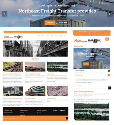 Northeast Freight Transfer website redesign