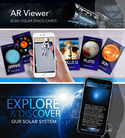 Solar Space AR promotional graphics